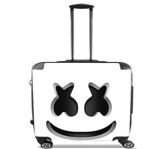 "Marshmello Or MashMallow for Wheeled bag cabin luggage suitcase trolley 17"" laptop"