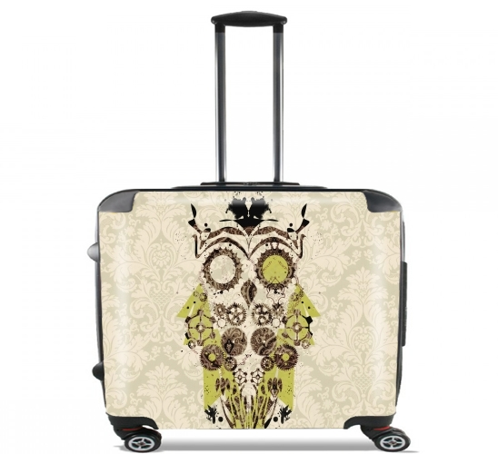 "Mechanic Owl for Wheeled bag cabin luggage suitcase trolley 17"" laptop"