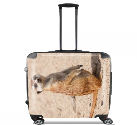 "Meerkat for Wheeled bag cabin luggage suitcase trolley 17"" laptop"