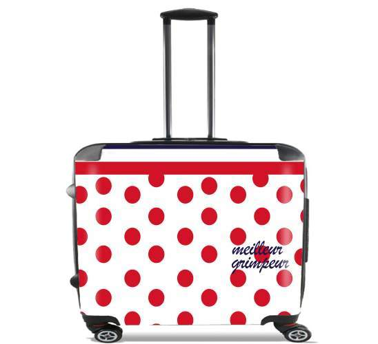 "Meilleur grimpeur Pois rouge for Wheeled bag cabin luggage suitcase trolley 17"" laptop"
