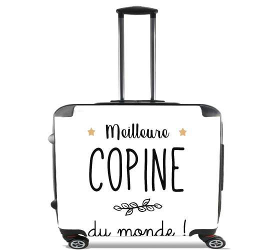 "Meilleure copine du monde for Wheeled bag cabin luggage suitcase trolley 17"" laptop"