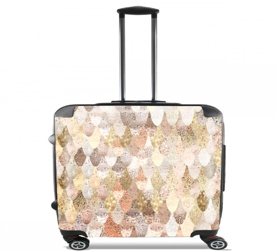 "MERMAID GOLD for Wheeled bag cabin luggage suitcase trolley 17"" laptop"