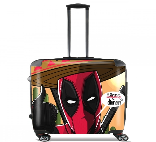 "Mexican Deadpool for Wheeled bag cabin luggage suitcase trolley 17"" laptop"