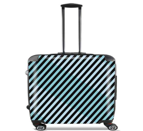 "Minimal Blue Style  for Wheeled bag cabin luggage suitcase trolley 17"" laptop"