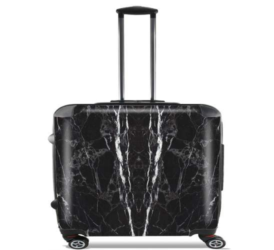 "Minimal Marble Black for Wheeled bag cabin luggage suitcase trolley 17"" laptop"