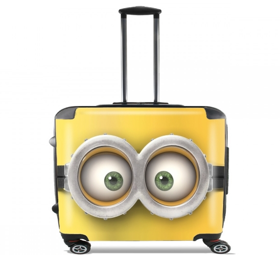 "minion 3d  for Wheeled bag cabin luggage suitcase trolley 17"" laptop"
