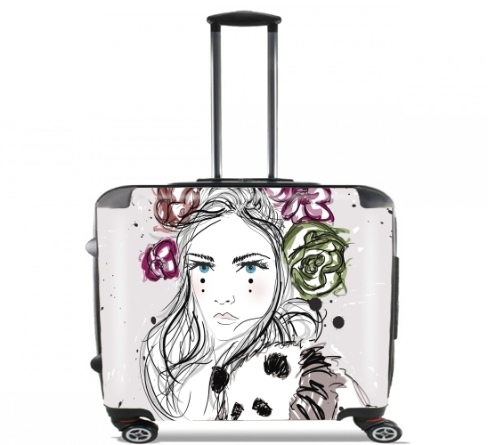 "Miss Mime for Wheeled bag cabin luggage suitcase trolley 17"" laptop"