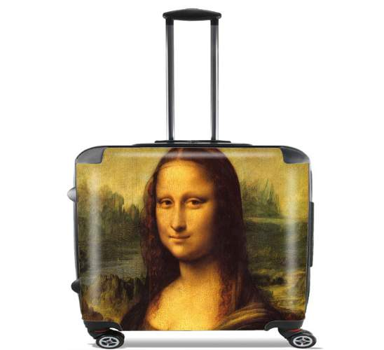 "Mona Lisa for Wheeled bag cabin luggage suitcase trolley 17"" laptop"