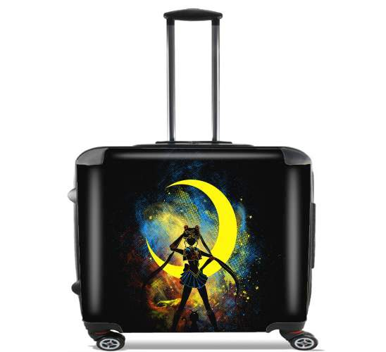 "Moon Art for Wheeled bag cabin luggage suitcase trolley 17"" laptop"
