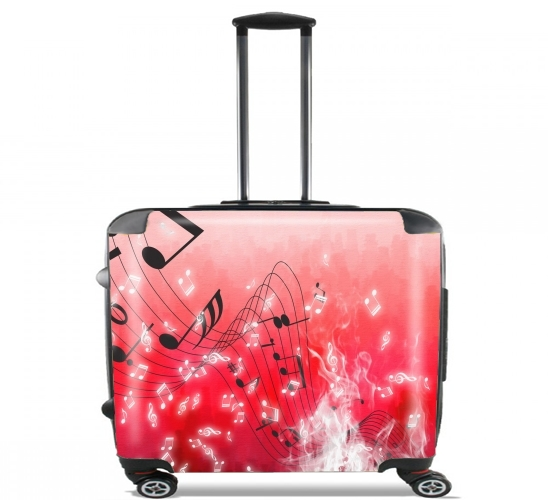 "Musicality for Wheeled bag cabin luggage suitcase trolley 17"" laptop"