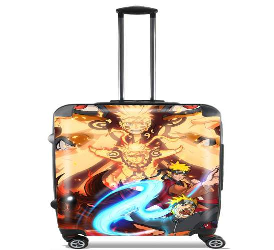 "Naruto Evolution for Wheeled bag cabin luggage suitcase trolley 17"" laptop"