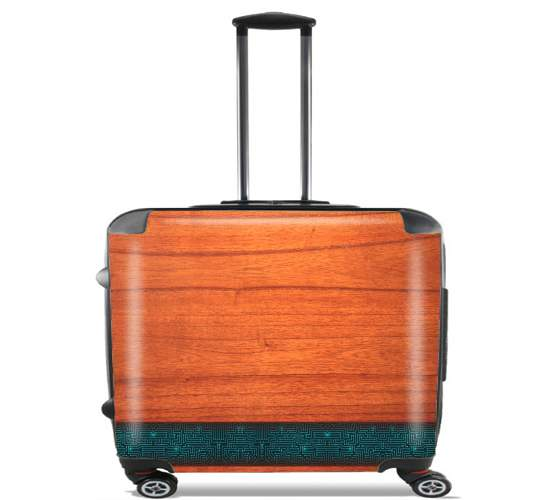 "Natural Wooden Wood Bamboo for Wheeled bag cabin luggage suitcase trolley 17"" laptop"