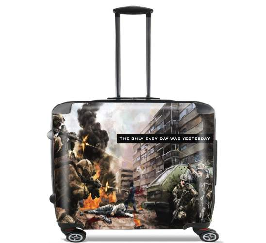 "Navy Seals Team for Wheeled bag cabin luggage suitcase trolley 17"" laptop"