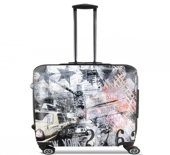 "New York 2 for Wheeled bag cabin luggage suitcase trolley 17"" laptop"
