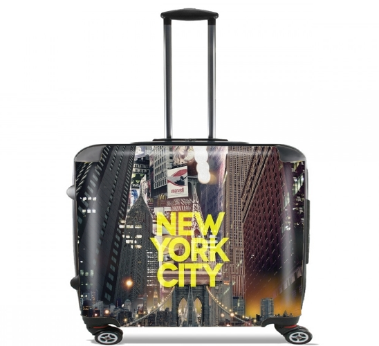 "New York City II [yellow] for Wheeled bag cabin luggage suitcase trolley 17"" laptop"