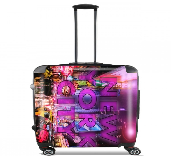 "New York City - Broadway Color for Wheeled bag cabin luggage suitcase trolley 17"" laptop"