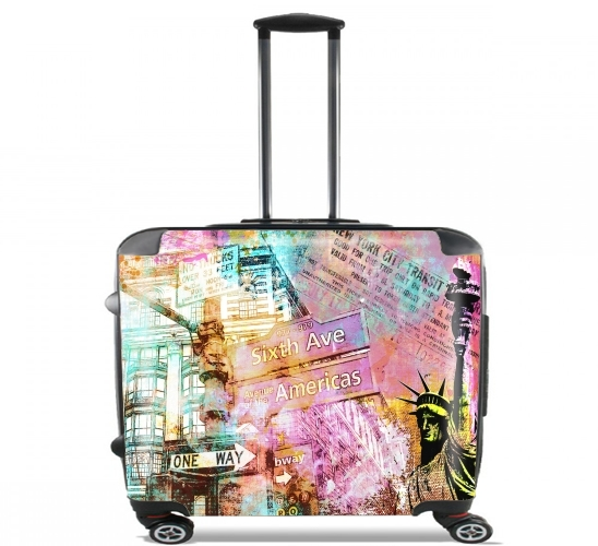 "New York Liberty for Wheeled bag cabin luggage suitcase trolley 17"" laptop"