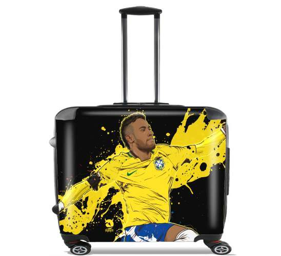 "Neymar Carioca Paris for Wheeled bag cabin luggage suitcase trolley 17"" laptop"