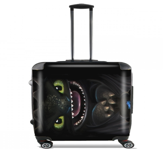 "Night fury for Wheeled bag cabin luggage suitcase trolley 17"" laptop"