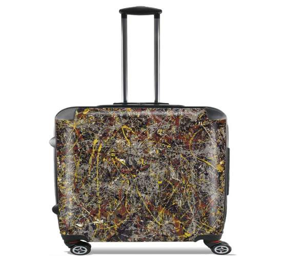 "No5 1948 Pollock for Wheeled bag cabin luggage suitcase trolley 17"" laptop"
