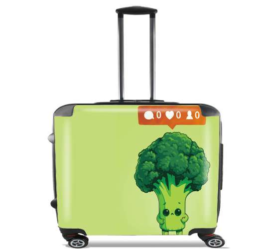 "Nobody Loves Me - Vegetables is good for Wheeled bag cabin luggage suitcase trolley 17"" laptop"