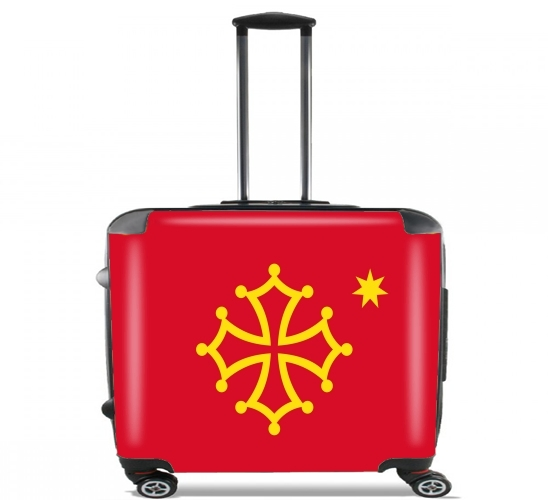"Occitania for Wheeled bag cabin luggage suitcase trolley 17"" laptop"