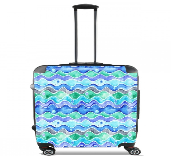 "Ocean Pattern for Wheeled bag cabin luggage suitcase trolley 17"" laptop"