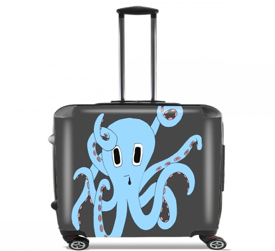 "octopus Blue cartoon for Wheeled bag cabin luggage suitcase trolley 17"" laptop"