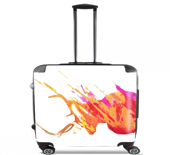 "On the road again for Wheeled bag cabin luggage suitcase trolley 17"" laptop"
