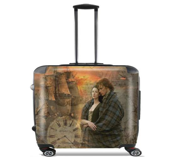 "Outlander Collage for Wheeled bag cabin luggage suitcase trolley 17"" laptop"