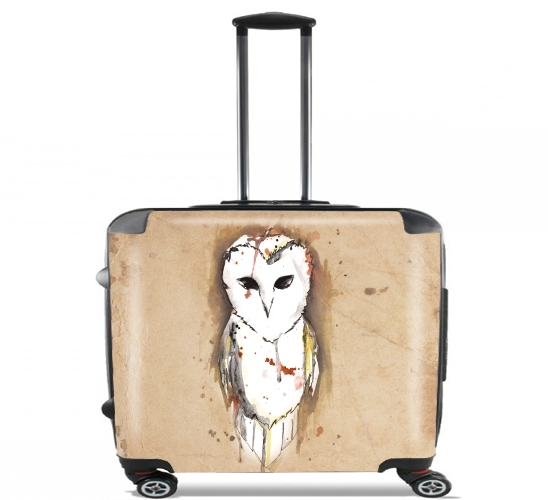 "Owl Justis for Wheeled bag cabin luggage suitcase trolley 17"" laptop"