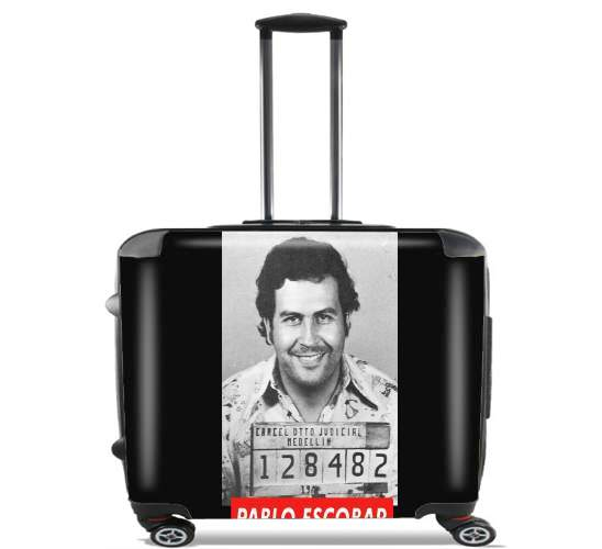 "Pablo Escobar for Wheeled bag cabin luggage suitcase trolley 17"" laptop"