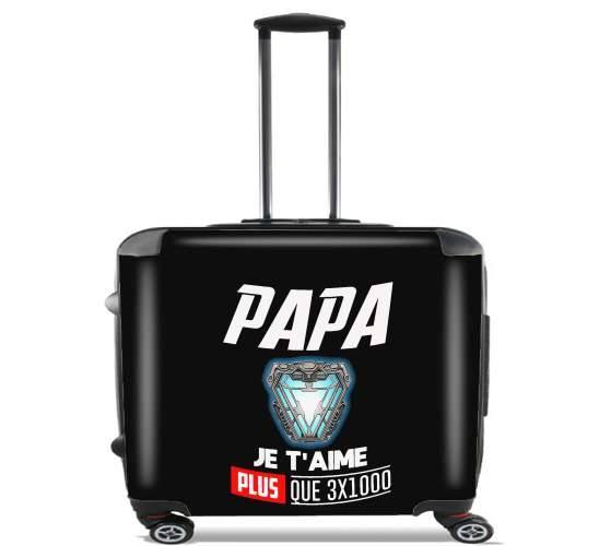 "Papa je taime plus que 3x1000 for Wheeled bag cabin luggage suitcase trolley 17"" laptop"
