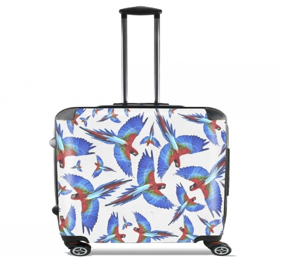 "Parrot for Wheeled bag cabin luggage suitcase trolley 17"" laptop"