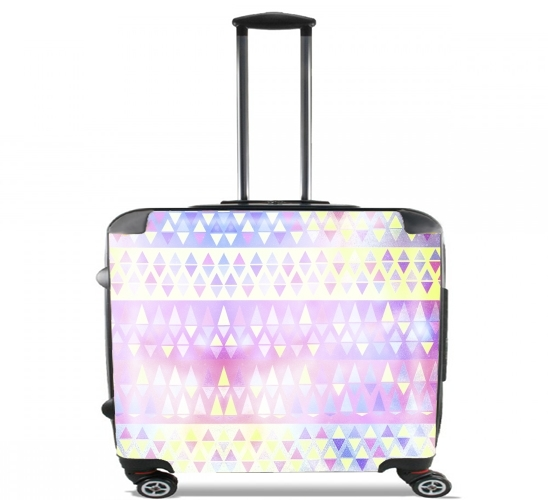 "Pastel Pattern for Wheeled bag cabin luggage suitcase trolley 17"" laptop"