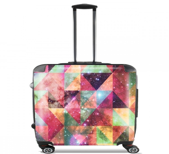 "Space Pattern Galaxy for Wheeled bag cabin luggage suitcase trolley 17"" laptop"
