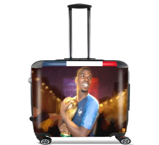 "Paul France FiersdetreBleus for Wheeled bag cabin luggage suitcase trolley 17"" laptop"