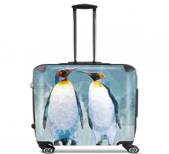 "penguin love for Wheeled bag cabin luggage suitcase trolley 17"" laptop"
