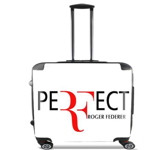 "Perfect as Roger Federer for Wheeled bag cabin luggage suitcase trolley 17"" laptop"