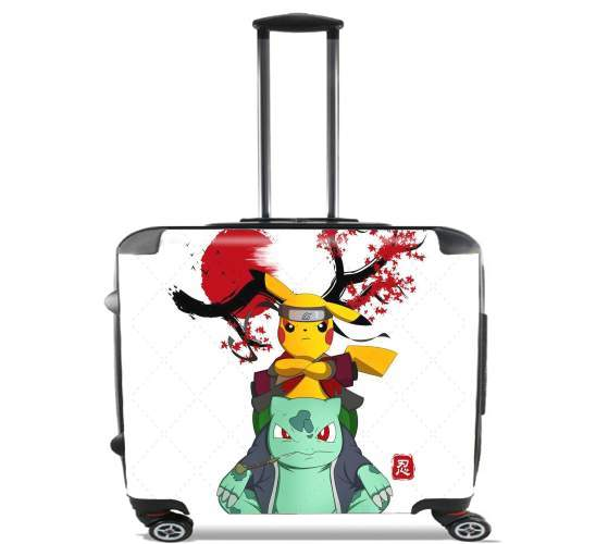 "Pikachu Bulbasaur Naruto for Wheeled bag cabin luggage suitcase trolley 17"" laptop"