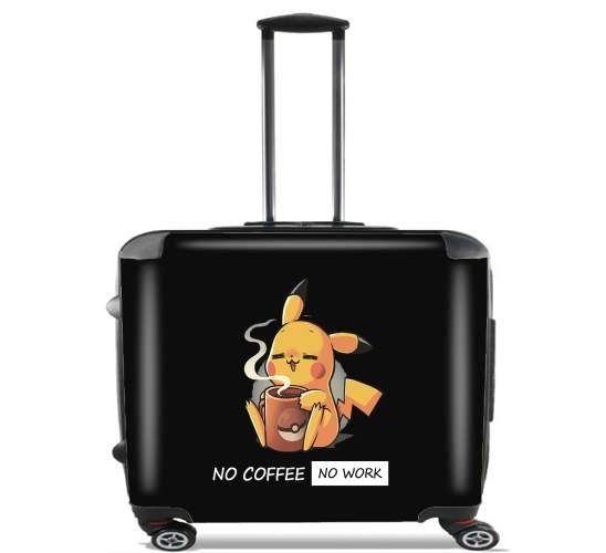 "Pikachu Coffee Addict for Wheeled bag cabin luggage suitcase trolley 17"" laptop"