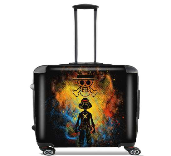 "Pirate Art for Wheeled bag cabin luggage suitcase trolley 17"" laptop"