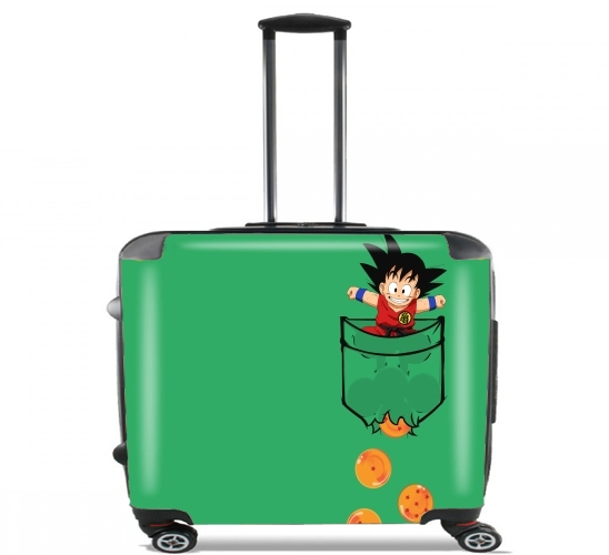 "Pocket Collection: Goku Dragon Balls for Wheeled bag cabin luggage suitcase trolley 17"" laptop"