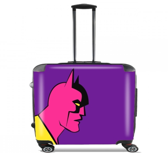 "Pop the bat! for Wheeled bag cabin luggage suitcase trolley 17"" laptop"