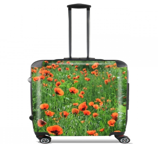 "POPPY FIELD for Wheeled bag cabin luggage suitcase trolley 17"" laptop"