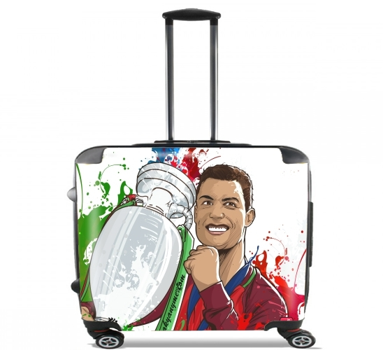 "Portugal Campeoes da Europa for Wheeled bag cabin luggage suitcase trolley 17"" laptop"