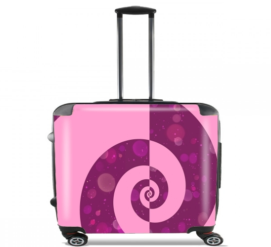 "PRETTY IN PINK for Wheeled bag cabin luggage suitcase trolley 17"" laptop"