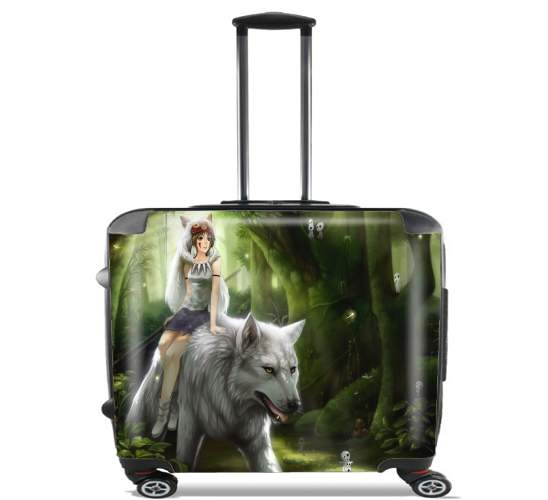 "Princess Mononoke for Wheeled bag cabin luggage suitcase trolley 17"" laptop"