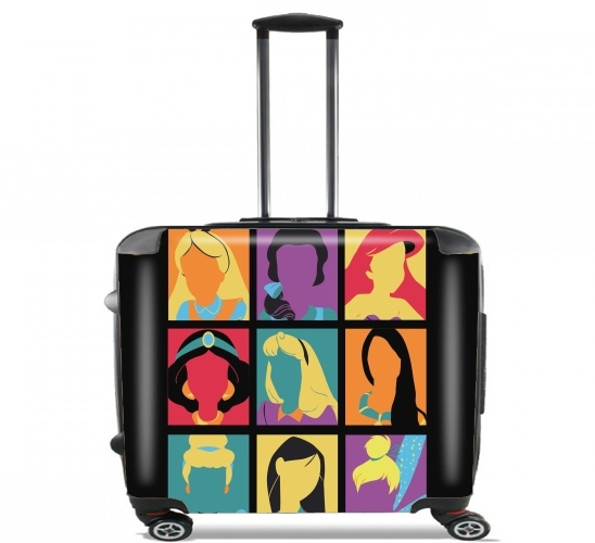 "Princess pop for Wheeled bag cabin luggage suitcase trolley 17"" laptop"