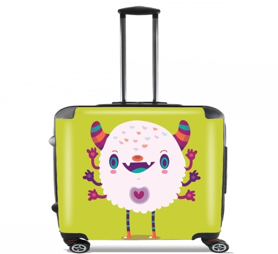 "Puffy Monster for Wheeled bag cabin luggage suitcase trolley 17"" laptop"